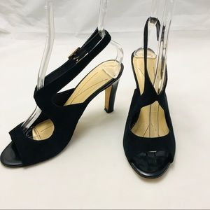 Kate Spade Sexy Black Suede Heels Size 7.5 B
